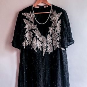 Dresses & Skirts - Black and Silver Sequined Dress